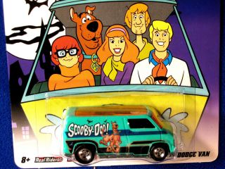 Hot Wheels Hanna Barbera Custom 77 Dodge Van RRs Scooby Doo Graphics