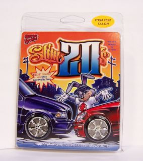 24 1 25 Slim 20s Talon Wheels Rims Tires Chrome Model Kit