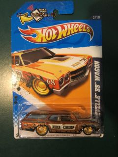 Hot Wheels Super Treasure Hunt 70 Chevelle SS Wagon Dark Version