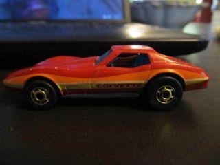 Vintage 1980 Hot Wheels Corvette Stingray Sting Ray Red