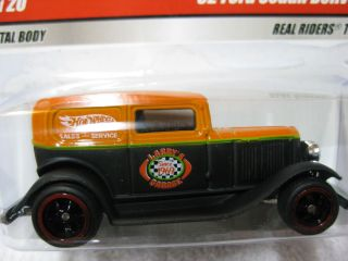 HOT WHEELS Larrys GARAGE REAL RIDERS 32 Ford Sedan Delivery Black 8 of