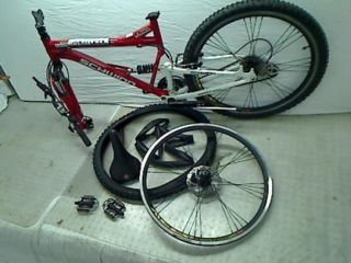 Protocol 1.0 Mens Dual Suspension Mountain Bike (26 Inch Wheels, Red