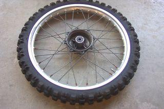Yamaha 1984 YZ 80 YZ80 Front Wheel Rim Tire 1 40 x 17