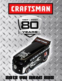 Hot Wheels Custom Craftsman Tools VW Drag Bus 80 Years 1 of 1 Boxman
