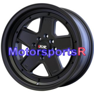 16 x 8 XXR 532 Flat Black Wheels Rims Old School 83 85 Toyota Celica
