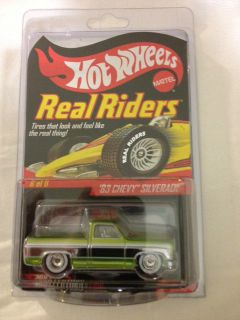 Hot Wheels RLC Le Real Riders 83 Chevy Silverado Truck Green 3 000