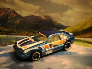 92 Ford Mustang 2011 Hot Wheels Racing Series Blue Wal Mart