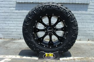20 BMF Wheels Novakane Death Metal Black 35x12 50 20 Nitto Trail 35
