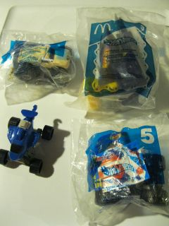 Lot of 4 McDonalds Asst Hot Wheels Happy Meal Toys NIP