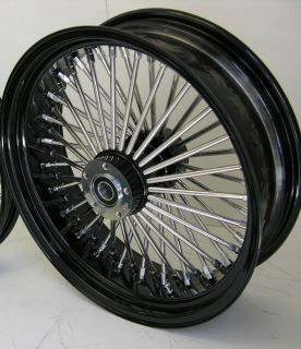 Mammoth Fat 52 Spoke Black Wheel Harley 18x5 5 Rear 200 Tire