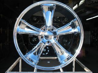 20X10 CHROME AMERICAN RACING VN805 BLVD WHEELS 2005 2012 MUSTANG GT500