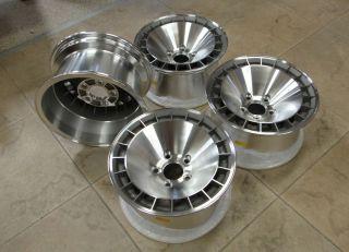 New 15x8 Turbo Turbine Wheels 70 79 80 81 Firebird Trans Am Natural