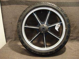 89 Kawasaki EN450 En 450 454 Wheel Front Rim Tire C24