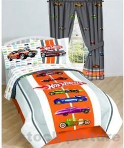 Hot Wheels Kids Twin Bed Sheet Set bright & colorful bedding Soft