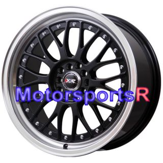 17 17x7 XXR 521 Black Machine Lip Wheels Rims 89 90 93 94 97 98 Honda