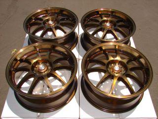 Bronze Effect Wheels Lexus RSX Impreza Tiburon WRX 5 Lug Rims