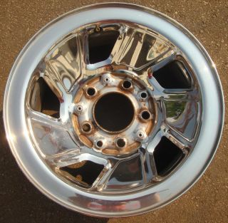 15 1992 93 94 95 Ford F150 Bronco Chrome Steel Wheel Rim F2TZ1015B
