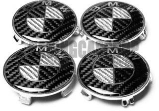 BMW Full Carbon Fiber Wheel Center Caps Emblem E90 E60