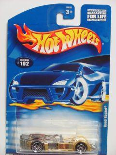 Hot Wheels 2001 Road Rocket 102 Gold