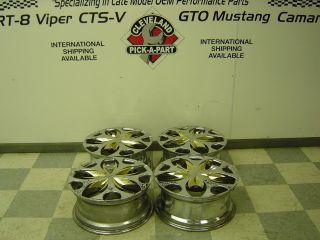 93 02 Pontiac Firebird Trans AM AFTERMARKET 18 5 Spoke Aluminum Wheels