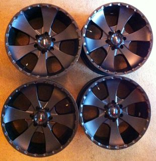 20 Black MKW Wheels for Chevrolet GMC 4x4 6 Lug