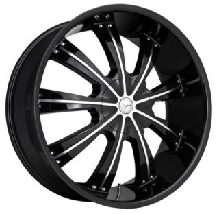 24 inch TIS08 Tis 08 Black Dodge Charger Wheels Rims