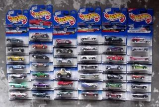 Lot of 41 NEW NIP Hot Wheels Diecast Cars From The 1990s No Duplicates
