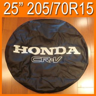 97 06 Honda CRV 25 Leather Spare Tire Cover 205 70R15 Leather Wheel