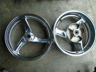 1998 98 Honda Blackbird CBR1100XX Chrome Wheels Rims