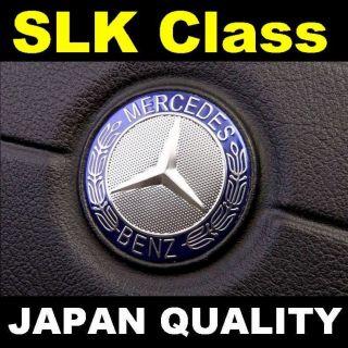 Mercedes Blue Logo SLK Class Steering Wheel Emblem Horn Badge SLK320