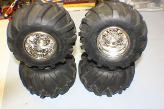 Vintage Tamiya Juggernaut Wheels Tires Scale Crawler Clod RC4WD