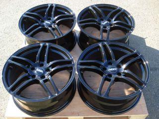 18 Wheels Audi R8 Replica 5x114 3 Lexus Acura Dodge Full Black Rims