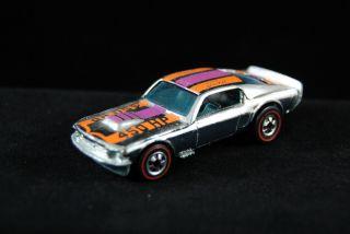 Redline Hot Wheels Mustang Stocker Chrome RARE Condition