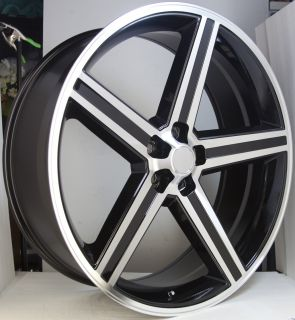 Machined 5 Lug Wheel Set 24X10 Irocs 5x115 Classic Chevy Rims