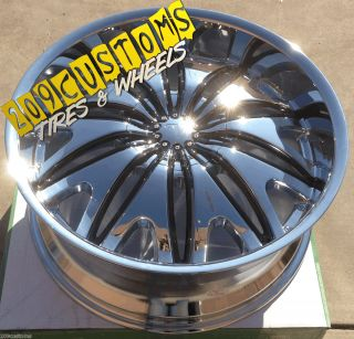 22 inch Chrome Velocity Wheels Rims Tires VW820 5x115 22x9 5 Dodge