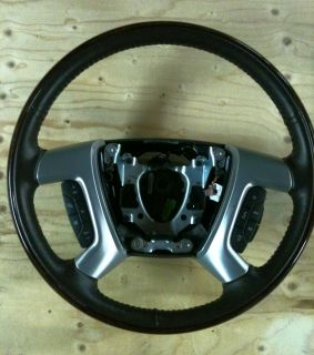 Cadillac Escalade Steering wheel, 2007 2012 w/wheel heater, ebony and