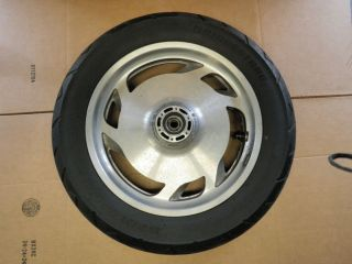 97 03 Honda Valkyrie Interstate GL1500CF Front Wheel Rim Tire Straight