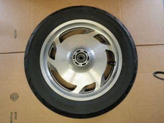 97 03 Honda Valkyrie Interstate GL1500CF Front Wheel Rim Tire Straight