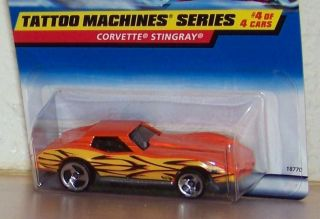 97 Hot Wheels Corvette Stingray Tattoo Die Cast Bottom Dated 1976 Card
