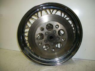 99 Harley Davidson Sportster XL 883 Rear Wheel Rim w Rotor T1