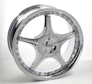 18 Pulse Style 104 Chrome Custom Wheels New