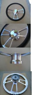 Billet Steering Wheel 4 Chevy Truck Camaro 57 68 Black