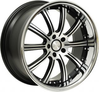 22 Concept One RS 10 Wheels Rims Black 5x112 Mercedes CL s CL550 S550