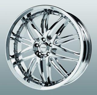 20 inch Verde Kaos Chrome Wheels Rims 5x112 Audi TTS Q5 Crossfire ml