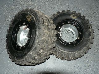 110 Beadlock Rear Wheels DWT Tires DRR DRX Apex Youth ATV MX