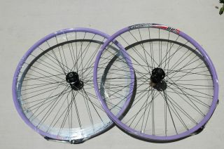 Alex DP20 Rims Wheel Set 29 Disc 6 Bolt 8 9 Speed Bike Wheels Purple