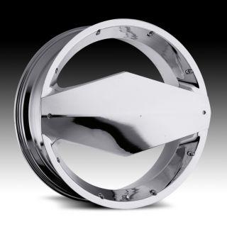 22 inch Vision Morgana Chrome Wheels Rims 5x115 18