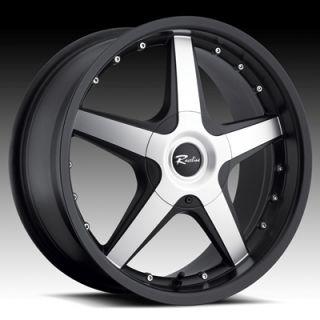 17 inch Black Raceline Wheels Chevrolet Cobalt HHR Impala Malibu 5x110
