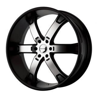 22 inch KMC Black Wheels Rims 6x4 5 6x114 3 Pathfinder Xterra Durango