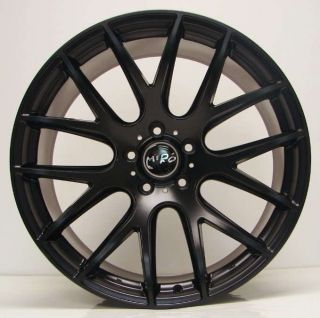 18 Miro 111 Matte Black Staggered Wheels Rims Fit VW Golf 1992   2006